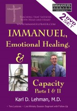 Teaching: Immanuel, Emotional Healing, & Capacity